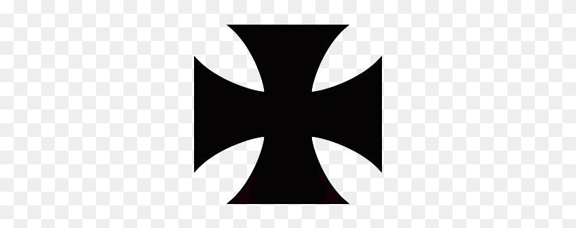 Maltese Cross Plain Black Really Cool Tattoo Art - Maltese Cross PNG