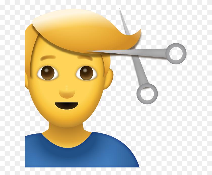 Man Getting Haircut Emoji - Haircut PNG