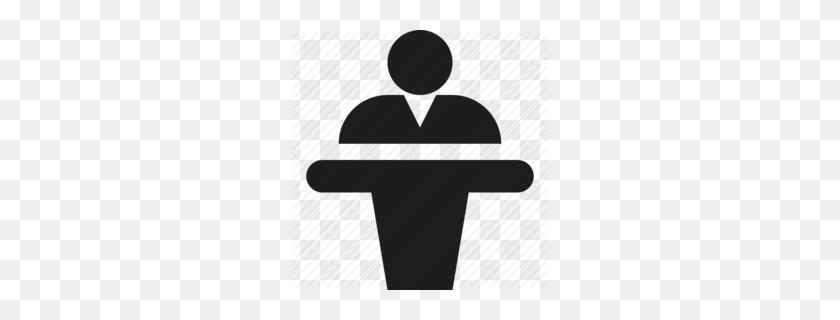 Man On Podium Clipart - Podium Clipart