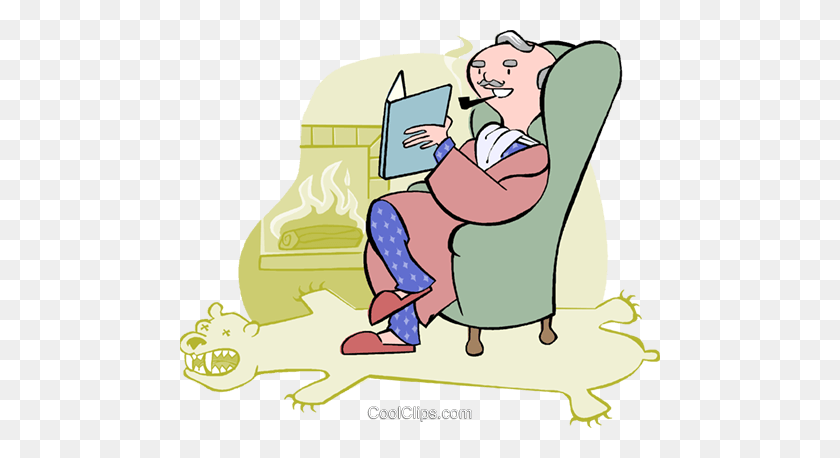Man Reading Book - Reading Book Clip Art