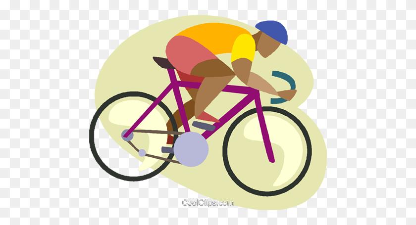 Man Riding Ten Speed Bicycle Royalty Free Vector Clip Art - Ten Clipart
