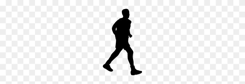 Man Running Silhouette Silhouette Of Man Running - Silhouette Man PNG