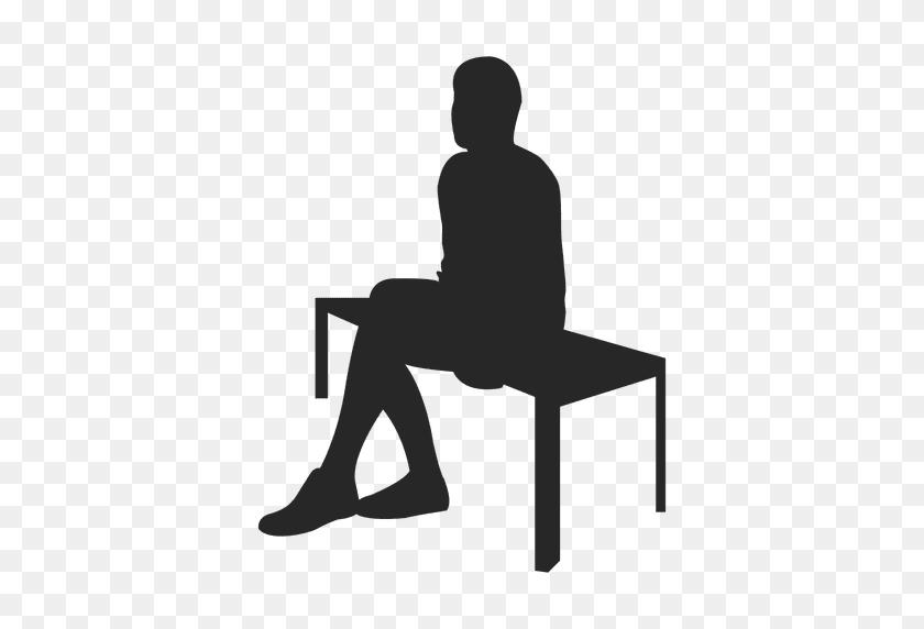 Man Sitting On Bench - Man Sitting PNG