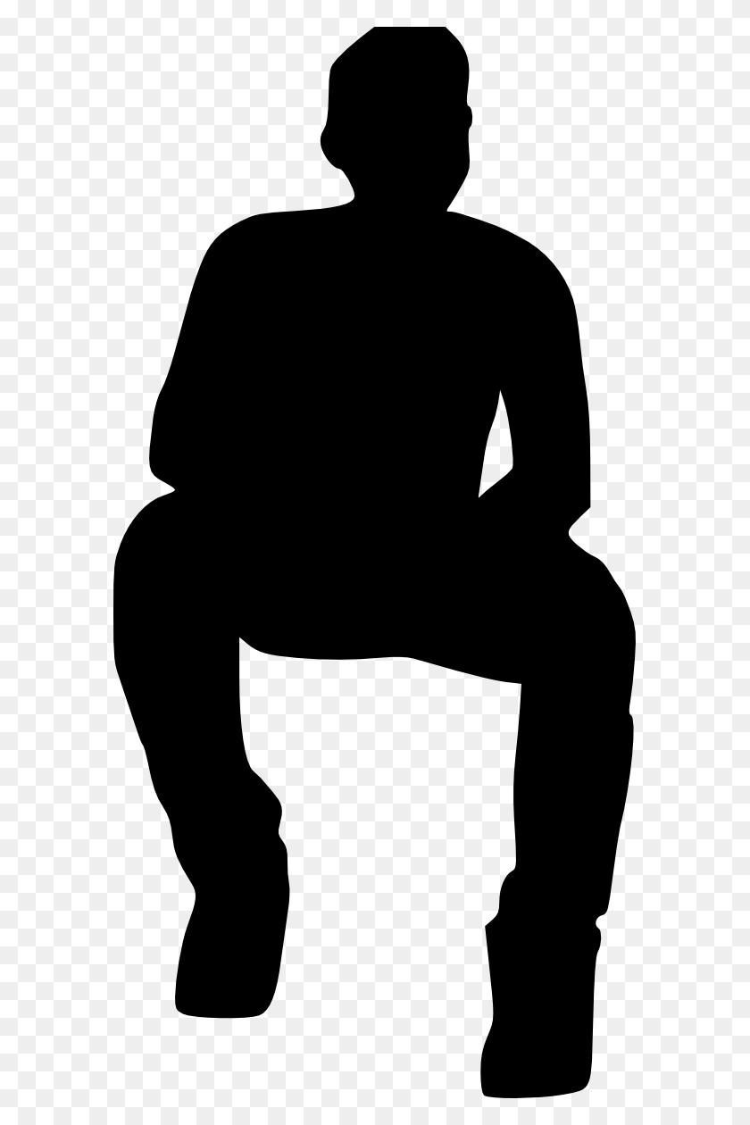Man Sitting Silhouette Png Png Image - Man Sitting PNG