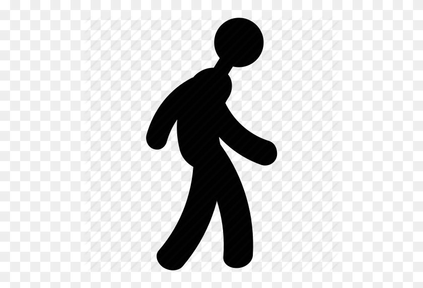 Man Walking, Pedestrian, Person, Traveler, Walker, Walking Icon - Walking Silhouette PNG