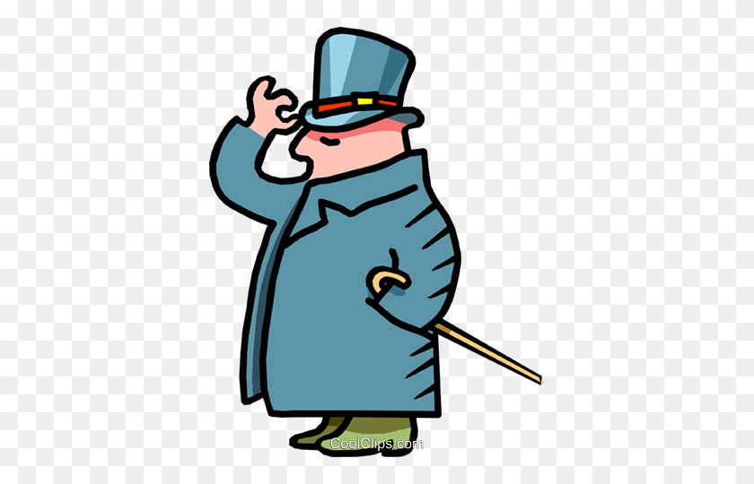 Man With Top Hat And Cane - Top Hat Clipart