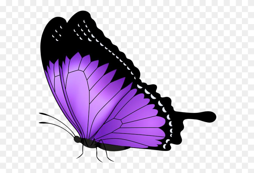 600x514 Mandala Butterfly, Butterfly Clip Art, Purple - Mandala Clipart