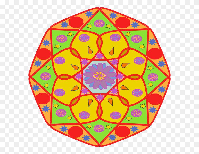 600x590 Mandala Clip Art - Mandala Clipart