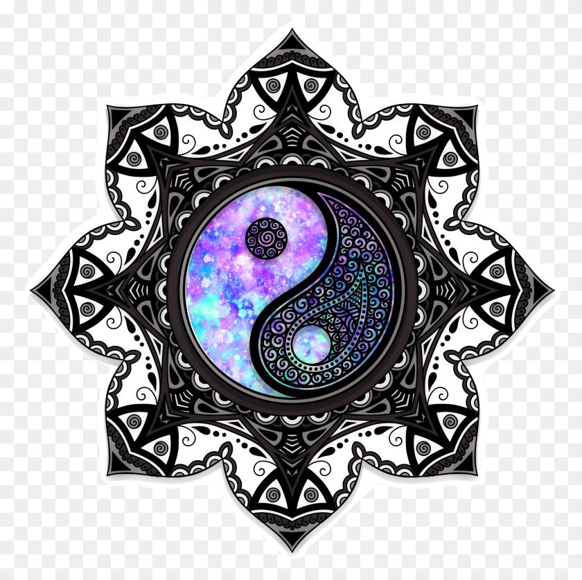 1911x1905 Mandala Galaxy Sparkles Yinyang Yinandyang - Mandala Clipart