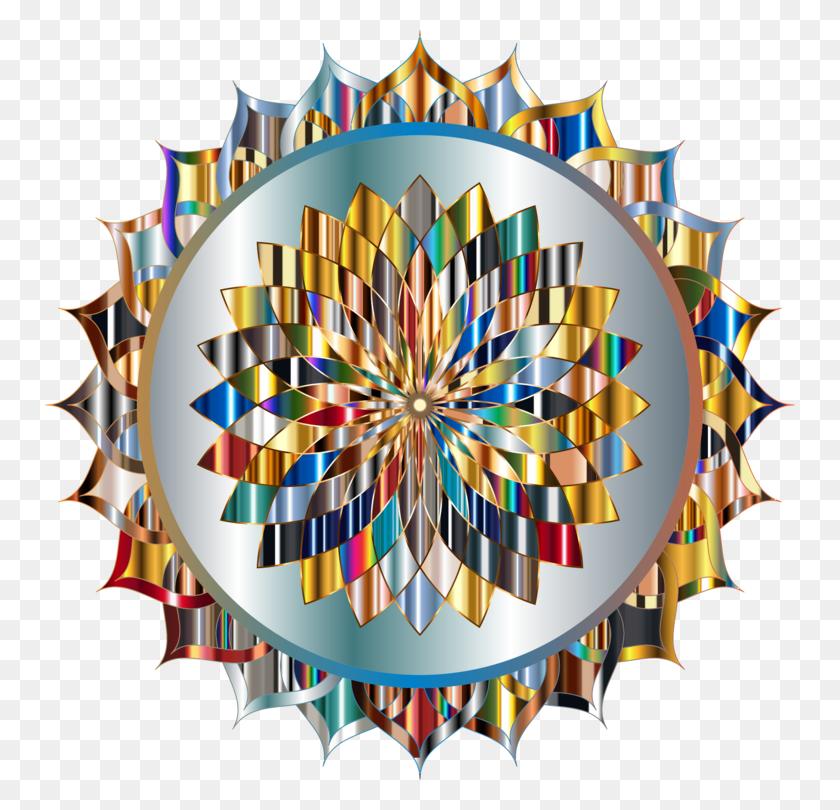 750x750 Mandala Line Art Symmetry Abstract Art - Mandala Clipart