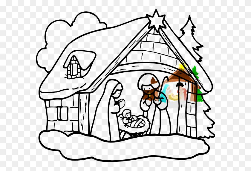 Manger House Clip Art - Manger Clipart