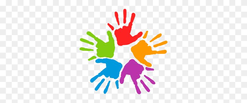 Mans Color Colour Clip Art, Diversity And Hands - Unity Clipart