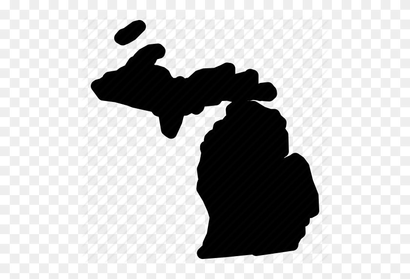 Map, Michigan, Michigan Map, Michigan State Icon - Michigan State Clip Art