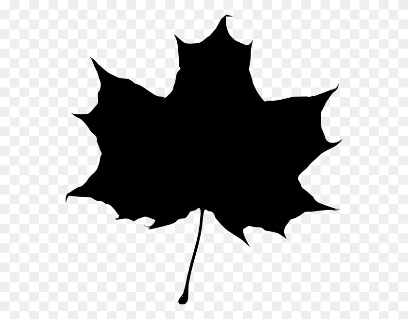 Maple Leaf Silhouette Clip Art - Maple Leaf Clipart