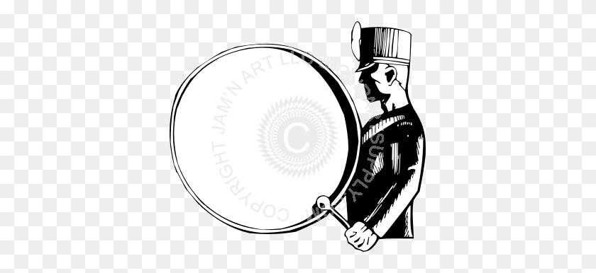 Marching Bass Drum Clip Art - Bass Clarinet Clip Art