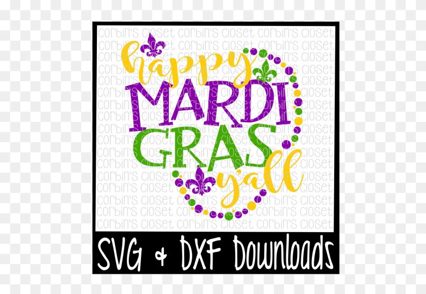 Mardi Gras Happy Mardi Gras Y'all Beads - Mardi Gras PNG