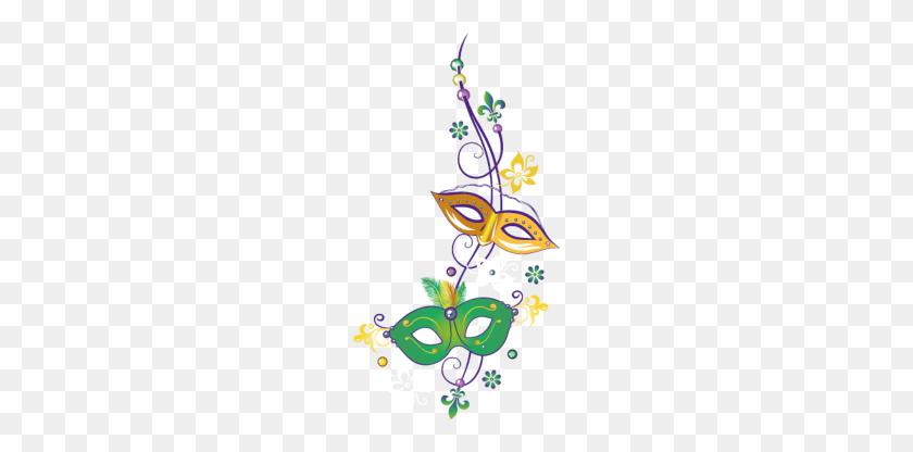 Mardi Gras Masks With Fleur De Lis And Beads - Mardi Gras Mask PNG