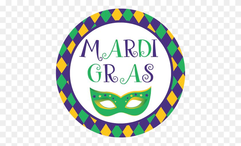 Mardi Gras Napkin Knot - Mardi Gras Beads Clip Art