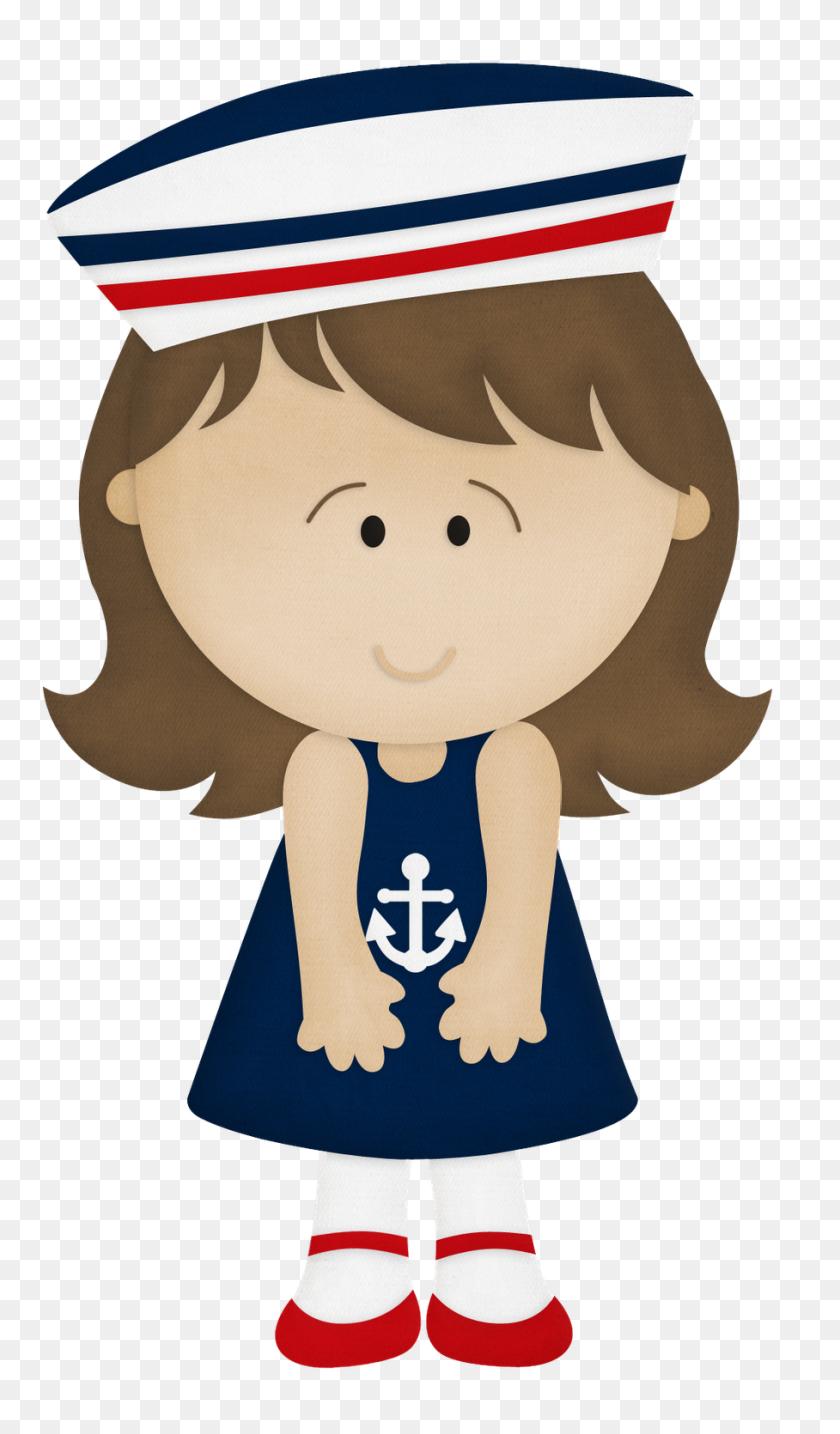 Marinero Bebe Dibujo - Nautical Baby Shower Clipart