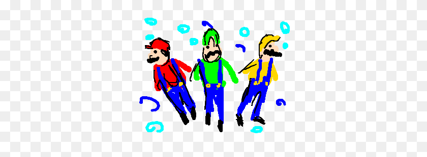 300x250 Mario Triplets Tries Out Synchronized Swimming - Synchronized Swimming Clipart