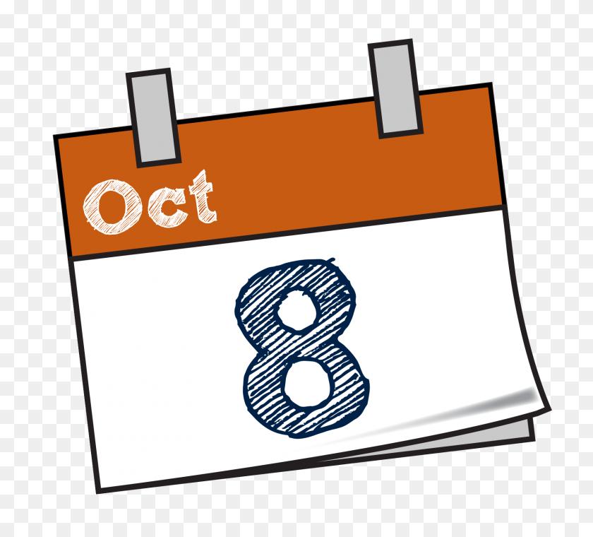 Mark The Date Calendar Clip Art - October Calendar Clipart
