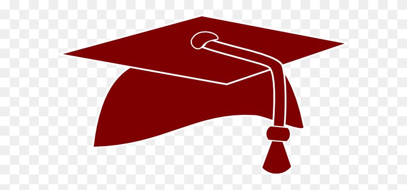 Maroon Grad Cap Clip Art - White Graduation Cap Clipart