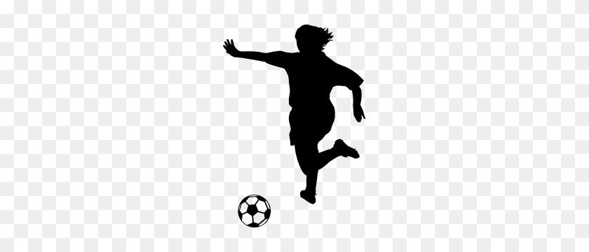 Martial Arts Karate Girl With Pony Tail Kicking Sticker - Girl Kicking Soccer Ball Clip Art