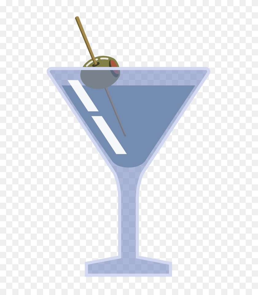 Martini Glass Clip Art Black And White, Martini Glass Martini - Champagne Glass Clipart Black And White