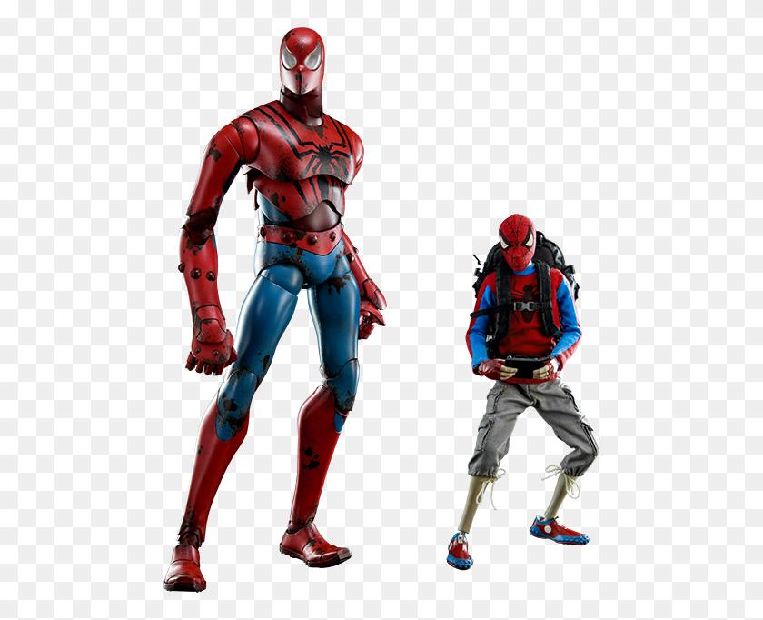 Marvel Peter Parker And Spider Man Sixth Scale Figure Set - Peter Parker PNG