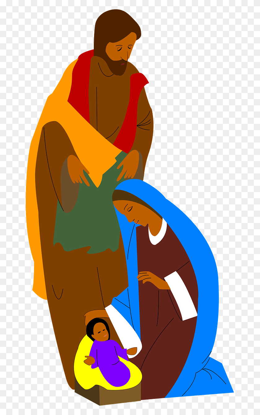 Mary And Jesus Clip Art - Jesus Loves You Clipart
