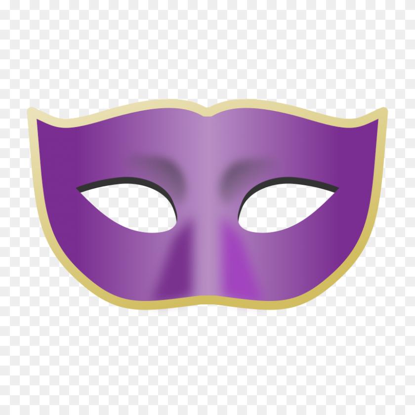 800x800 Masks Clipart Purple - Private Clipart
