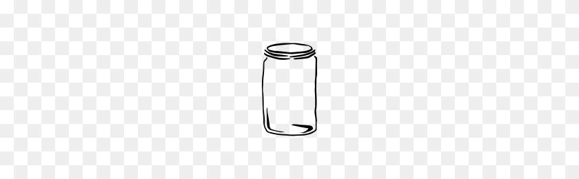Mason Jar Hand Drawn Icons Noun Project - Mason Jar PNG