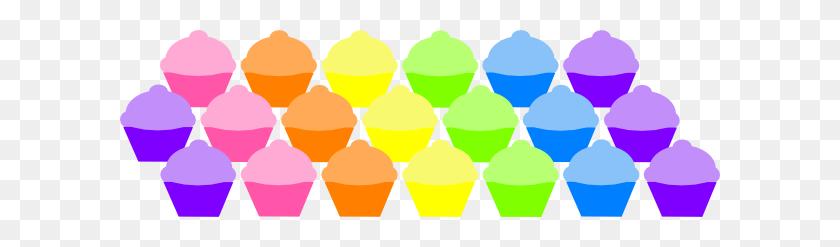 Mass Of Cupcakes Banner Clip Art - Mass Clipart