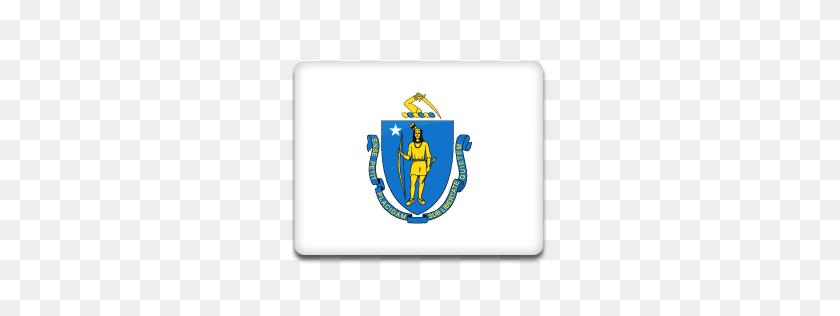 Massachusetts Flag Icon American States Iconset Custom Icon Design - Massachusetts PNG