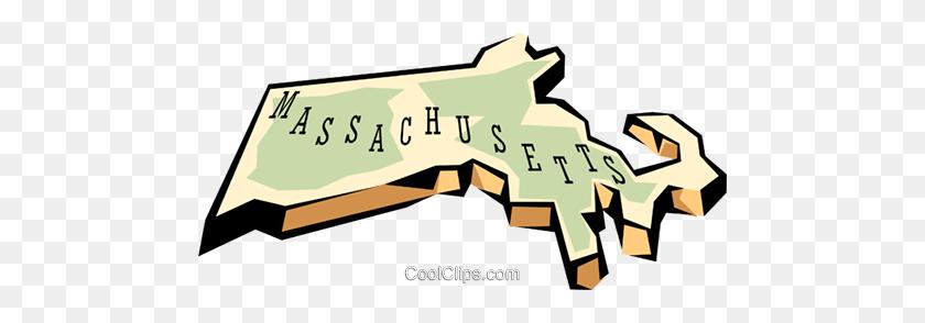 Massachusetts State Map Royalty Free Vector Clip Art Illustration ...