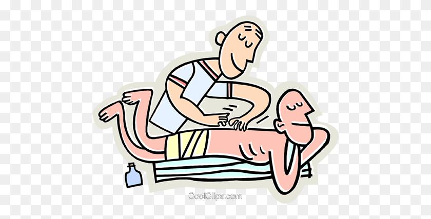 Massages Royalty Free Vector Clip Art Illustration - Massage Clipart
