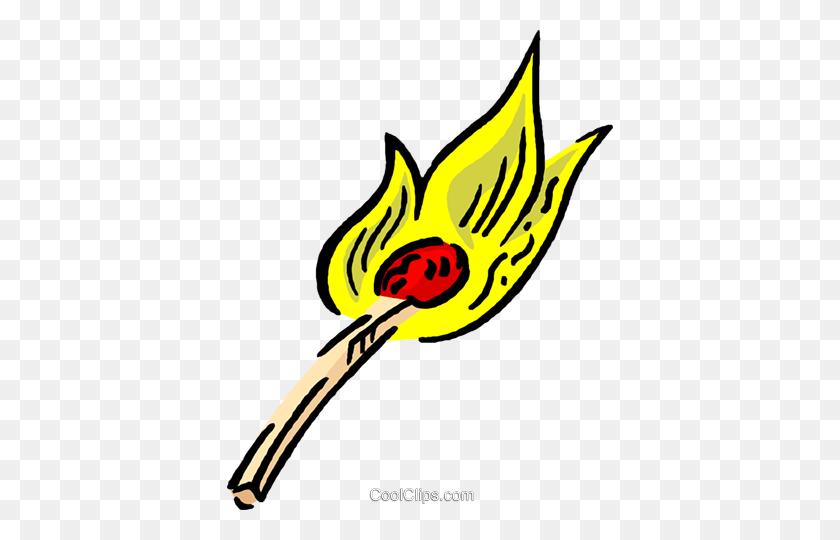 Match Stick Royalty Free Vector Clip Art Illustration - Match Clipart