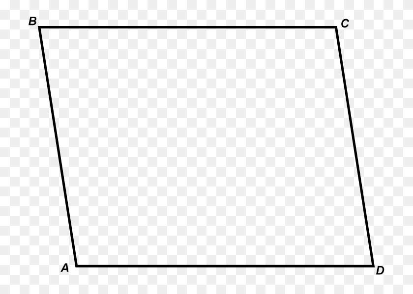 Math Clip Art Parallelogram - Parallelogram PNG