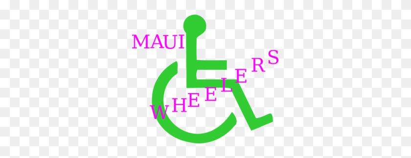 299x264 Maui Wheelers Clip Art - Maui Clipart