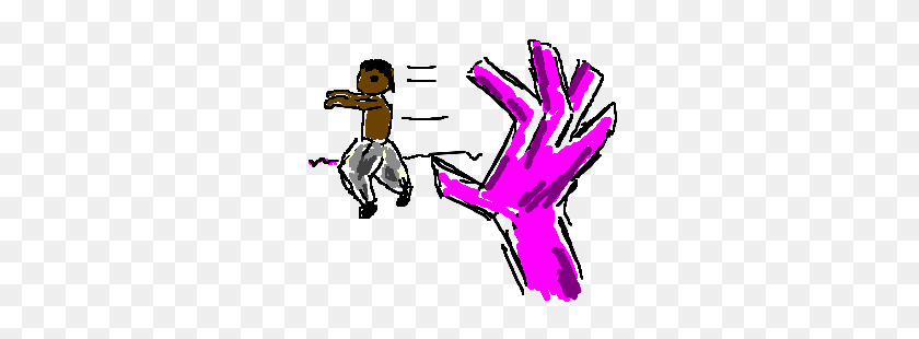 Mc Hammer Avoids Pink Master Hand Drawing - Master Hand PNG