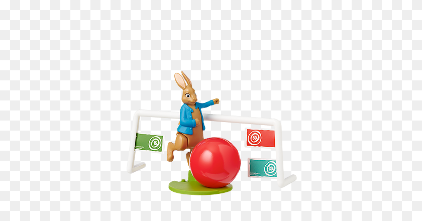 Mcdonald's Happy Meal Toys Peter Rabbit Soccer Kids Time - Peter Rabbit PNG