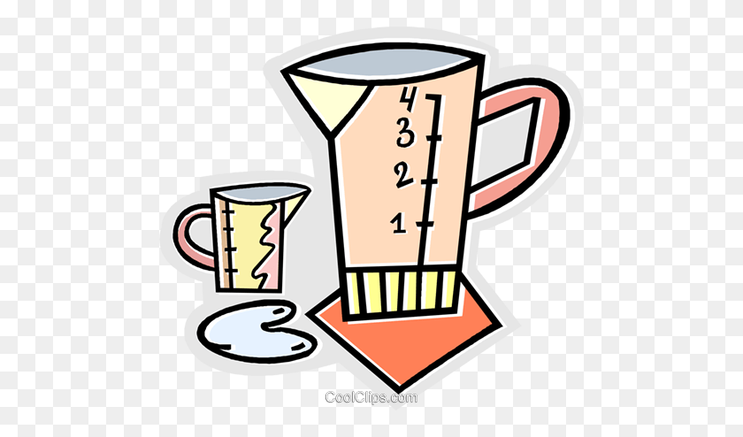 Measuring Cups Royalty Free Vector Clip Art Illustration - Measuring Cup Clipart