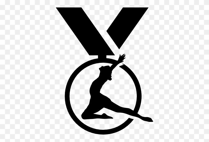 Medal, Gymnastics, Medal Variant, Gymnastics Medal, Gymnast Icon - Medal Clipart Black And White