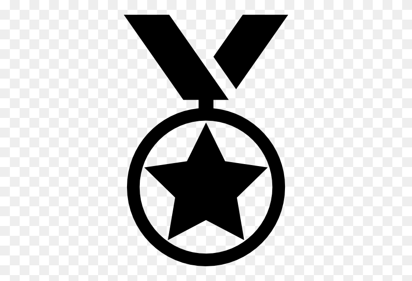 512x512 Medal With A Star Hanging Of A Ribbon - Hanging Stars PNG