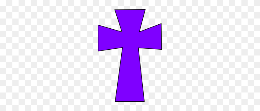 Medieval Cross Purple Black Clip Art - Rugged Cross Clipart
