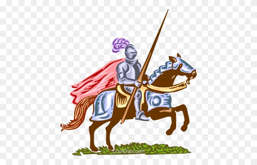 Medieval Knight Royalty Free Vector Clip Art Illustration - Medieval Knight Clipart