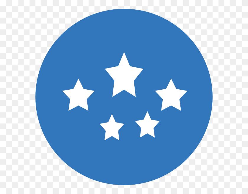 Medium Blue Stars Png, Clip Art For Web - Circle Of Stars Clipart