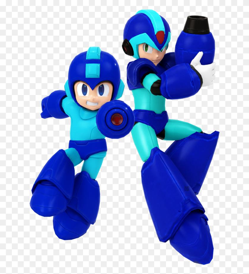 644x863 Mega Man And X Render - Mega Man X PNG