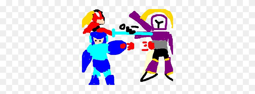 300x250 Mega Man X And Zero Defeat Vile - Megaman X PNG