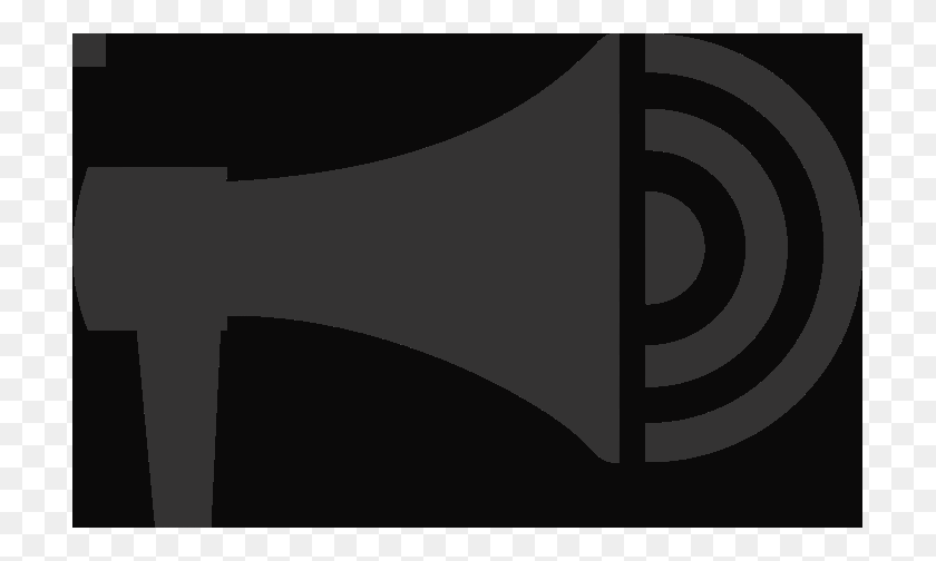 709x444 Mega Phone Clipart - Megaphone Clipart Black And White